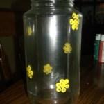 dot painted jar. 4