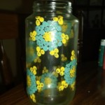 dot painted jar. 6