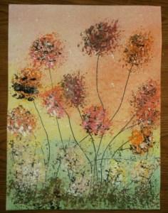 abstract dandelions 4e