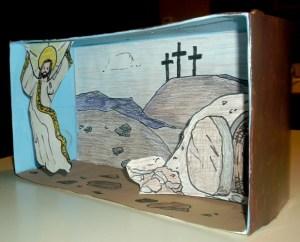 Resurrection diorama outside