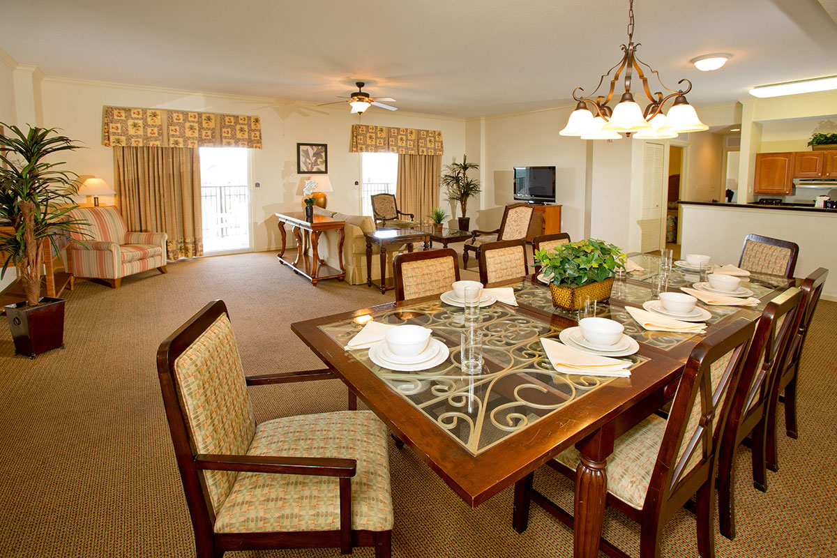 orlando hotels with full kitchen height of bar stools for counter hotel - suite gallery | lake buena vista resort ...