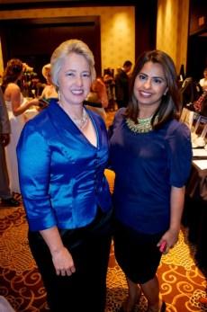 Mayor Annise Parker with LCA Host Ruchi Mukherjee