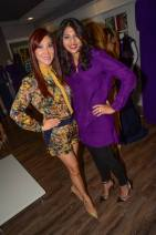 Mandy and Nihala - Birthday Gals in David Peck Fall collection