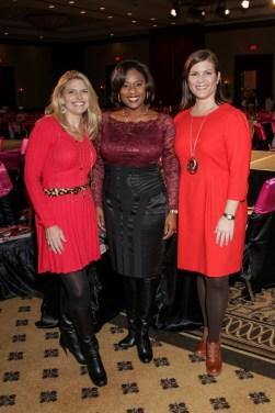 Rachel S, Sharron and Lauren in Banquet Hall