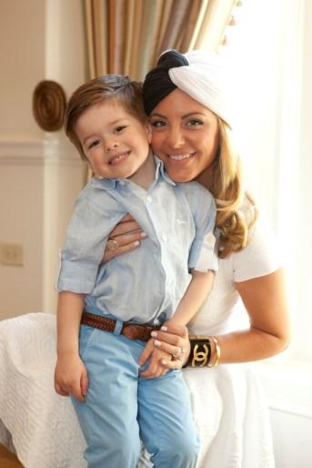 Kristen Nix and son