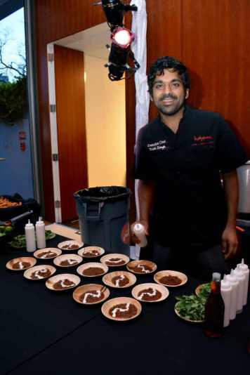 Rishi Singh of Boheme Cafe displaying spicy delights