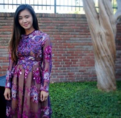 Kelly Vuong wearing Danny Nguyen Couture