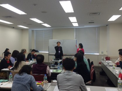 Workshop organized by my Japanese colleagues that we facilitated on May 10