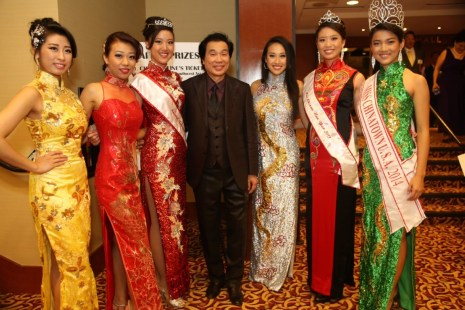 Left to right: Sarah Ip (Miss Congeniality 2013) Melissa Chan (Miss Fan Favorite 2013) Sandra Shyi (Second Princess 2013), Dr.Allen Lee , Crystal Lee (Miss California 2013) Kathy Wei (Miss Chinese New Year) Karen Li (Miss Chinatown/Talent USA 2013)