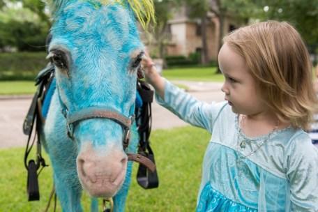Estelle with Blue Pony