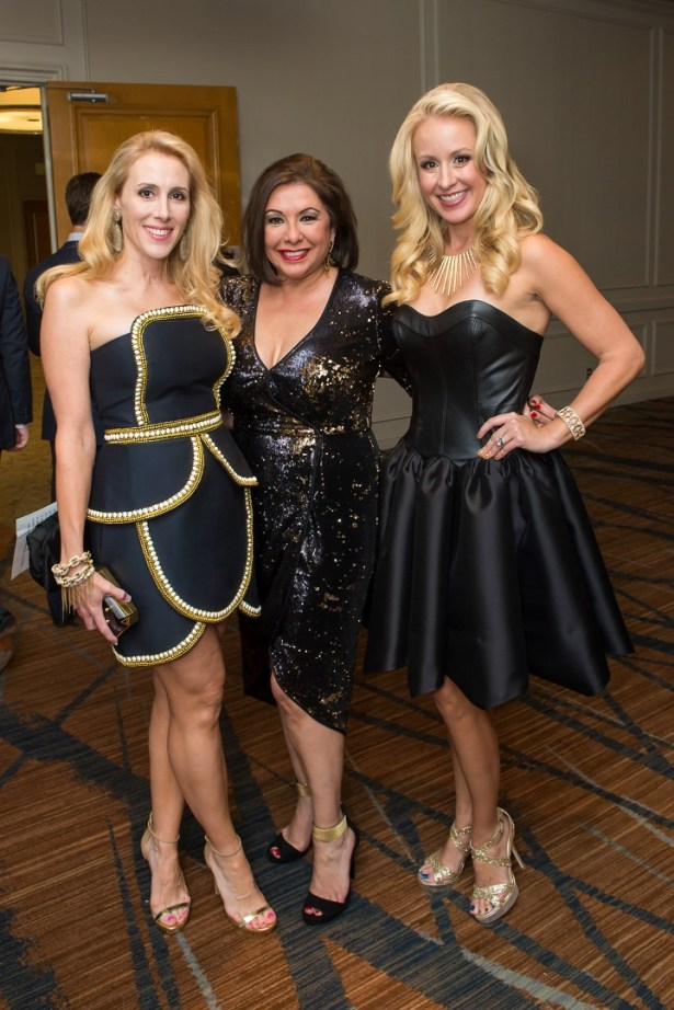 Christie Sullivan (co-chair) Debbie Festari and Jennifer Brown (co-chair) - Photo Courtesy of CultureMap Emile C Browne