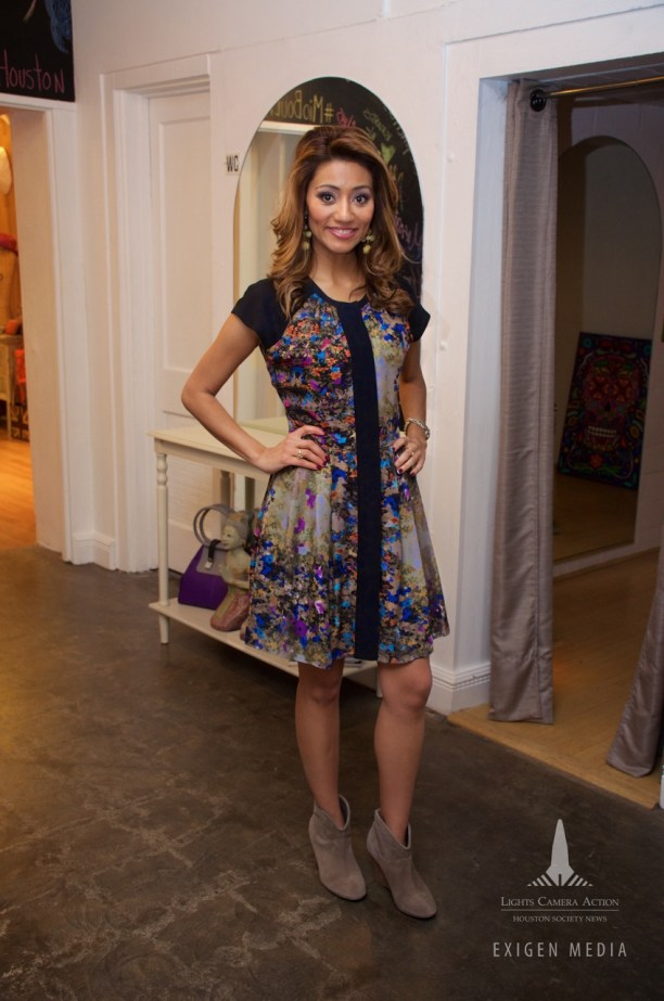 Rita Garcia in an outfit by Mio Boutique
