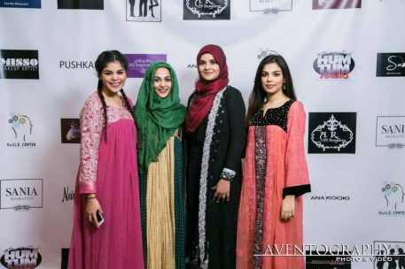 Aisha Khan middle with guests