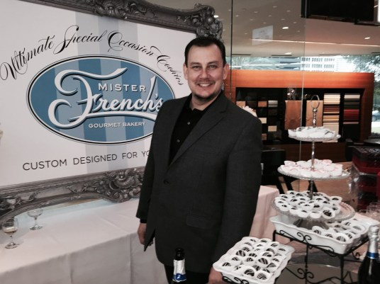 Scott French of Mister French's Gourmet Bakery with milk and dark chocolate cookies bon bons