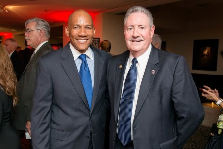 Crime Stoppers Board Member Sidney Evans and Harris County Sherriff Ron Hickman