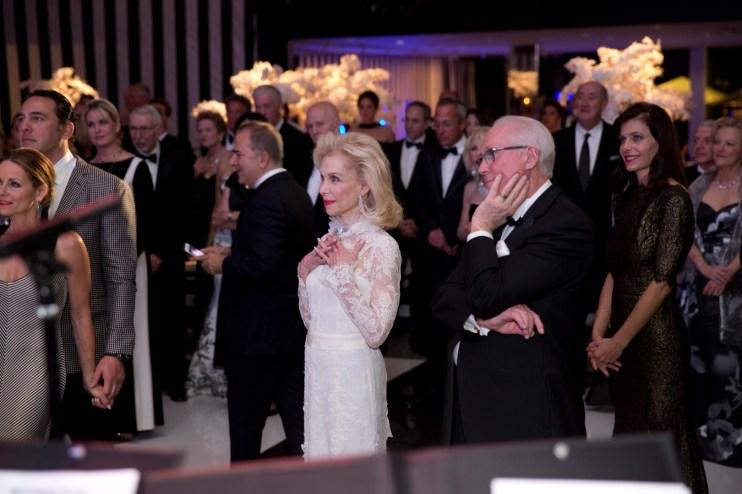 Lynn Wyatt and guests; Photo by Jenny Antill