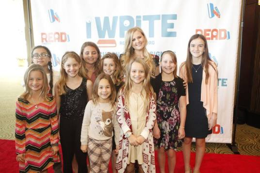 Melissa Wiliams with young writers