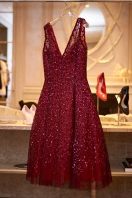 Dior Burgundy Dress for $21,000