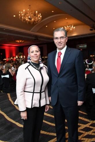 Egyptian Consul General Khaled Rady and wife, Dr. Manal Affara
