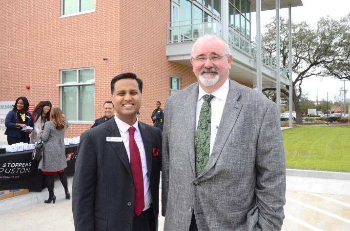 Dr. Aashish Shah, Harris County Commissioner Jack Cagle