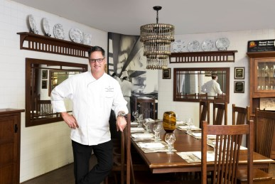 Chef Robert Graham in Table One kitchen chef's table