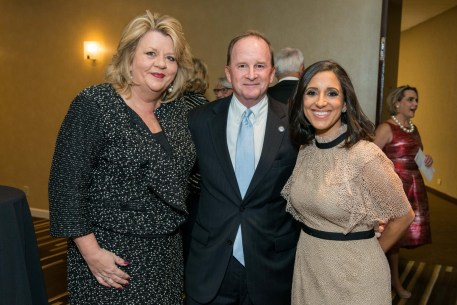 Council Member Brenda Stardig, Council Member Dave Martin, Crime Stoppers Exec. Director Rania Mankarious
