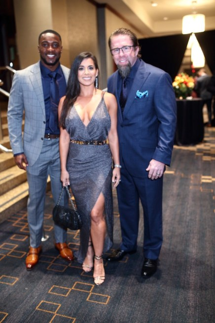 Andre Hal and Rachel and Jeff Bagwell at Festari for Men Una Notte In Italia