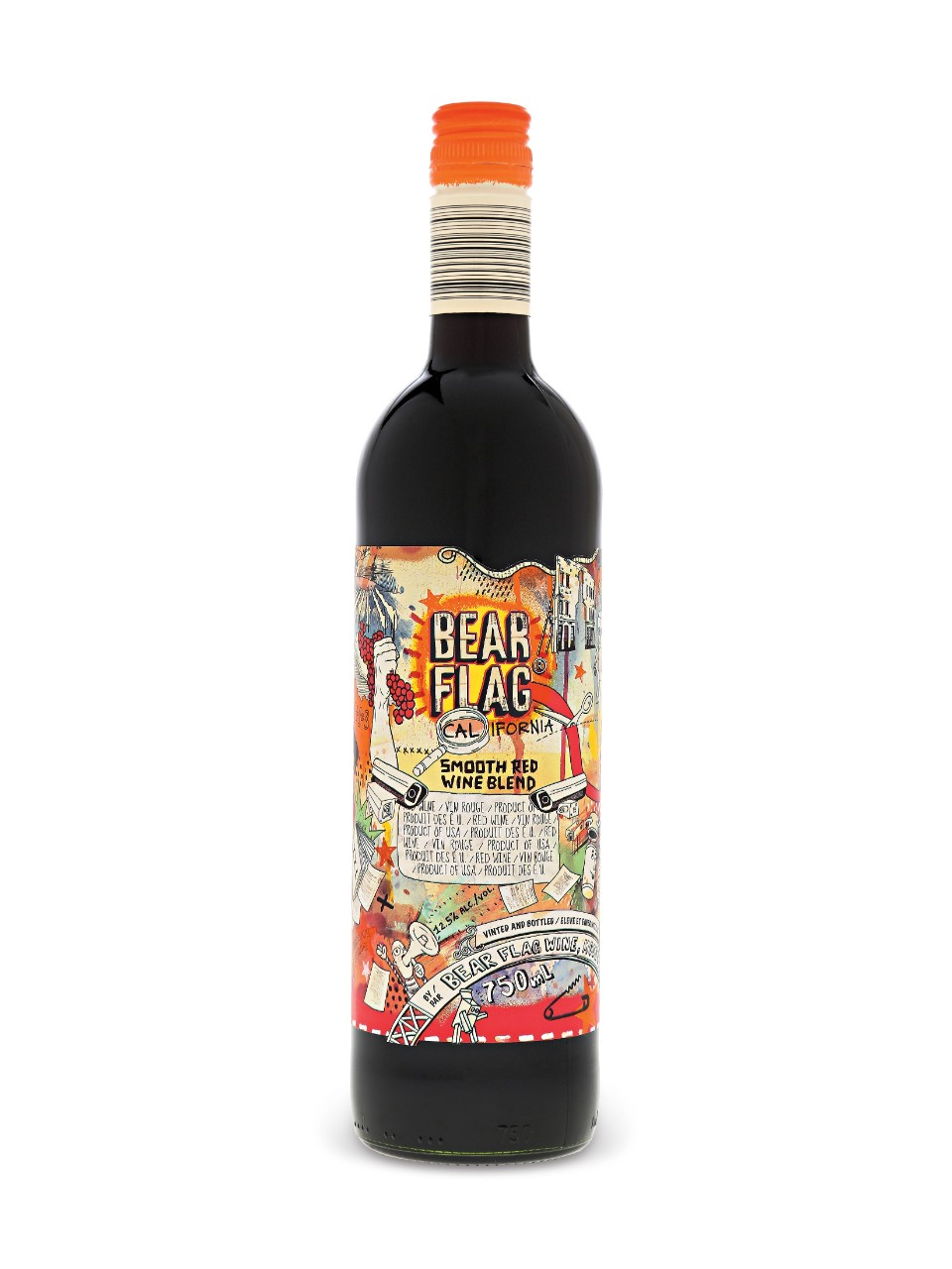 Image result for Bear flag red blend