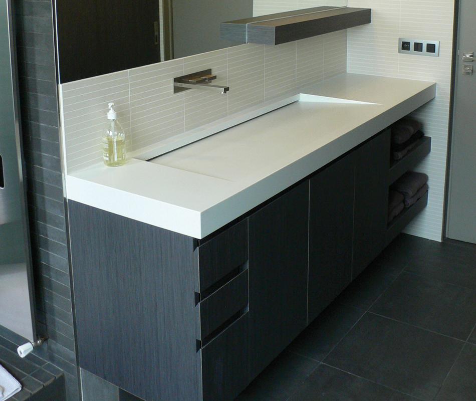 Ensemble sanitaire meuble avec plan vasque  LCCA