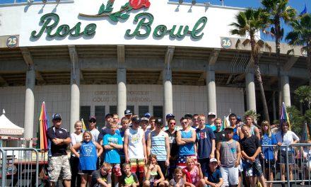 Panther football team visits historic Rose Bowl