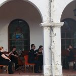 Orchestra Plays at Depot