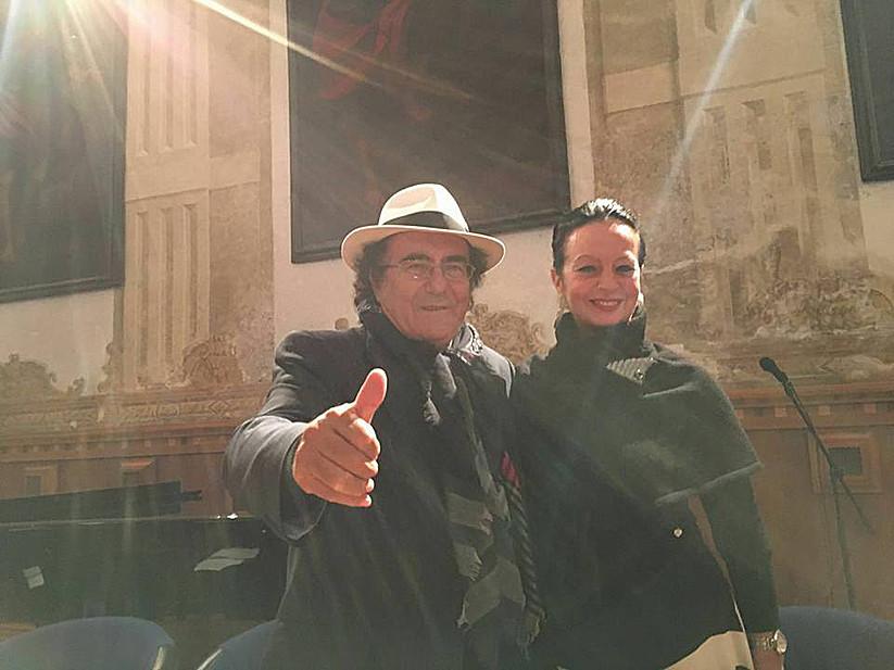 Con Albano Carrisi