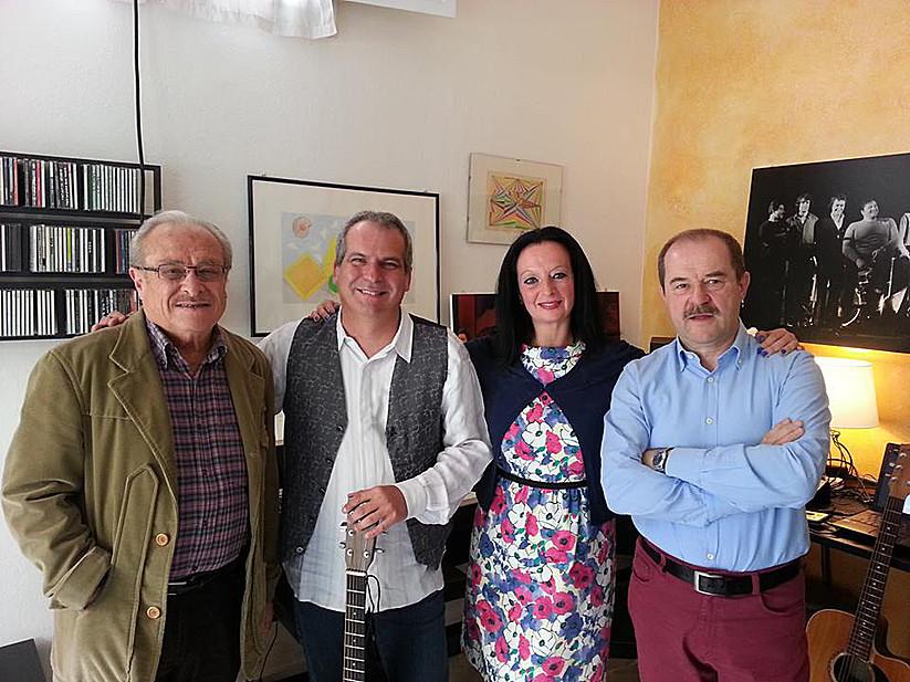 Con Luca Bonaffini, Maro Dieci e Giancarlo Governi