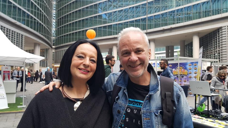 Con Roberto Binetti