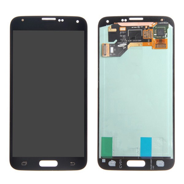 LCD Screen Replacement without frame for Samsung Galaxy S5 - Black