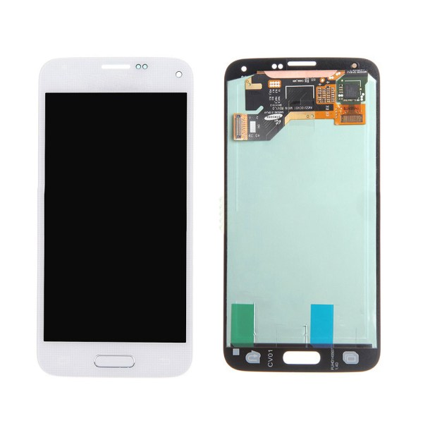 LCD Screen Replacement without frame for Samsung Galaxy S5 - White