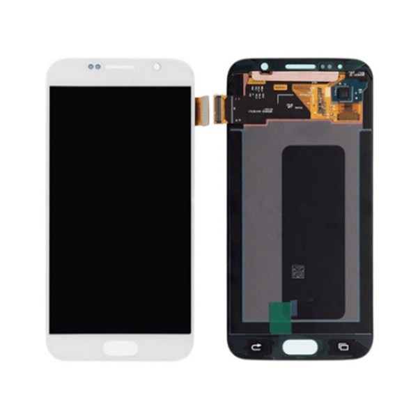 LCD Screen Replacement without frame for Samsung Galaxy S6 - White