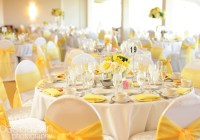 Table-setting-wedding-banquet-yellow - La Canada ...