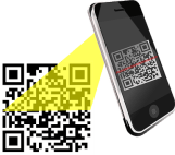 phone scanning code graphic