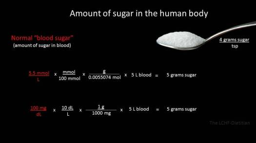 understand sugar in body
