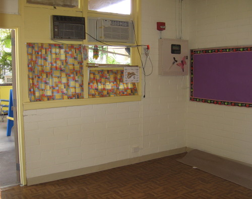 Interior of the nursery/child care room