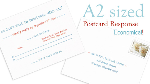 Response Cards Size Standard Sizes For Wedding