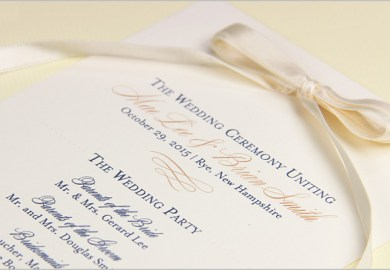 Wedding Programs With Ribbon