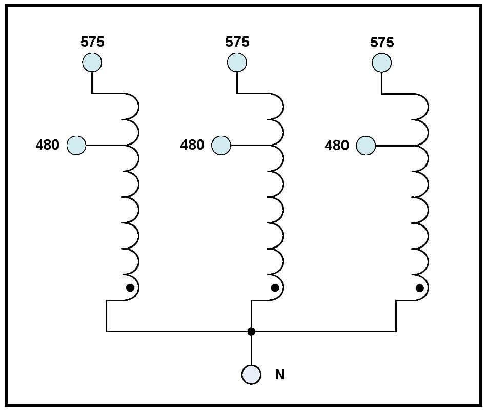 THREE PHASE BOOST TRANSFORMER, 55 KVA, INPUT 480 VAC