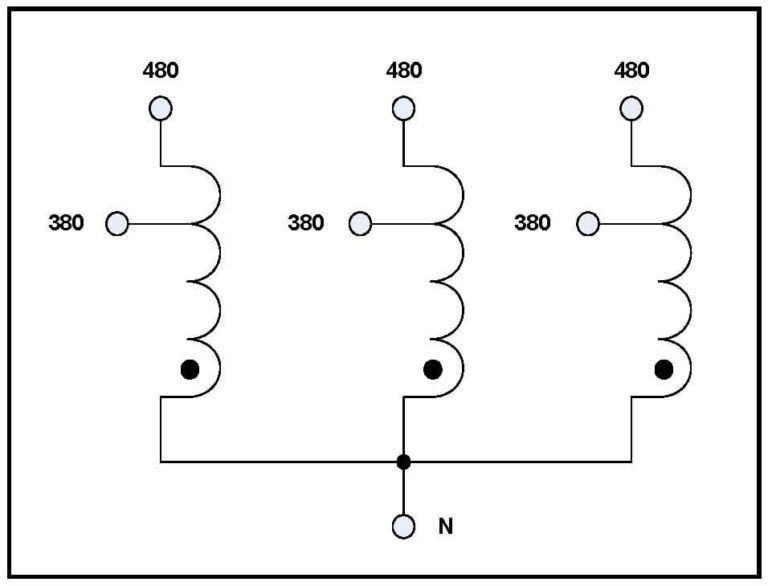 THREE PHASE BUCK TRANSFORMER, 40 KVA, INPUT 480 VAC
