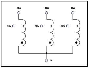 THREE PHASE BOOST TRANSFORMER, 150 KVA, INPUT 480 VAC