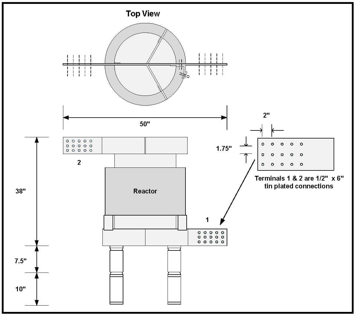 Air Core Reactor 4 24 Uh Amps Continuous P N L