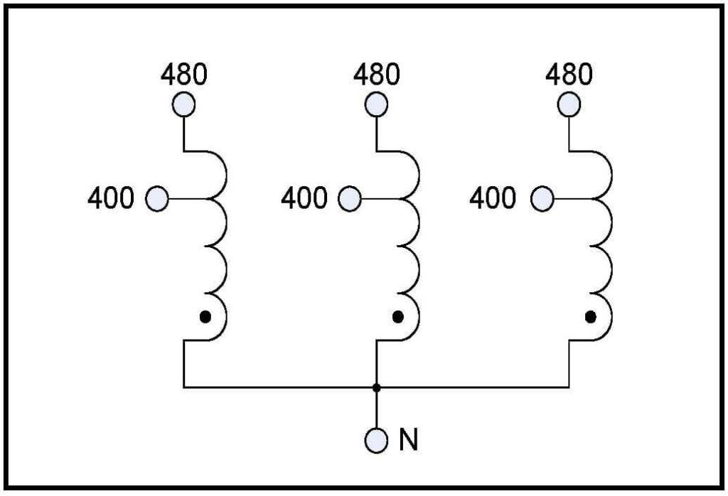 BUCK TRANSFORMER, 25 KVA, INPUT 480 VAC, OUTPUT 300 VAC, P