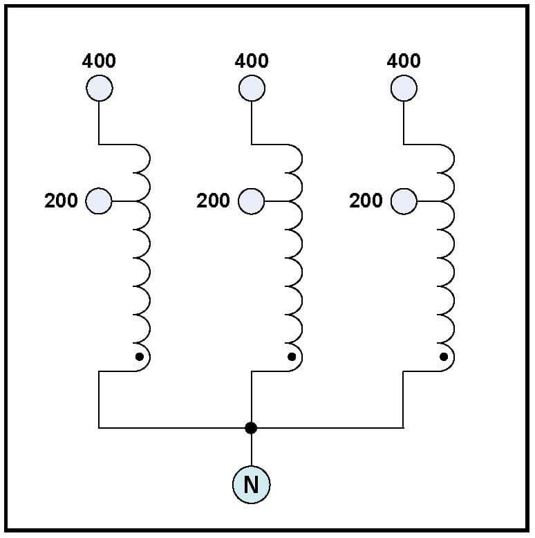 THREE PHASE 400 HZ BOOST TRANSFORMER, 28 KVA, INPUT 200