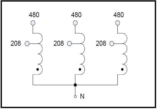 BUCK TRANSFORMER, 20 KVA, INPUT 480 VAC, OUTPUT 208 VAC, P